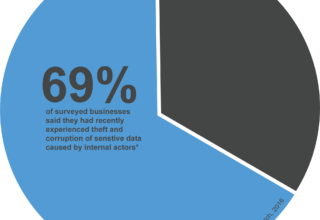 Ekran data - 69% of business have experienced theft of sensitive data