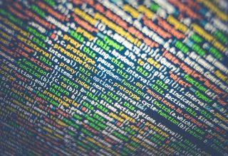 Computer coding screen