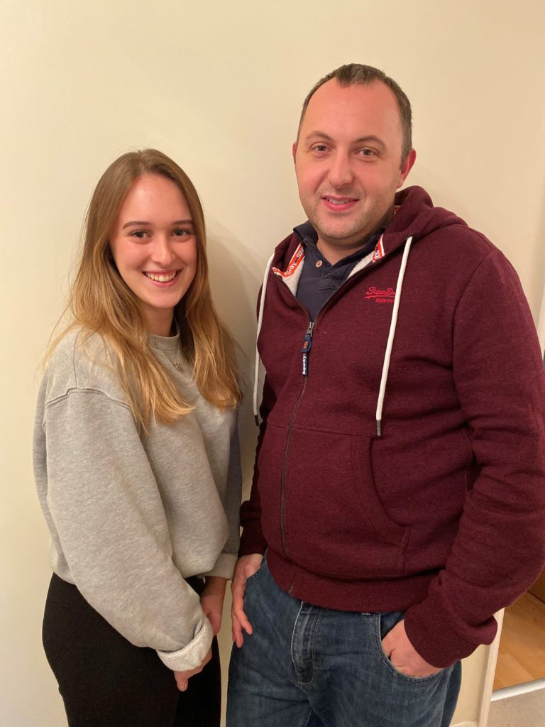 Jonathan Smy with his niece Chloe Matthews